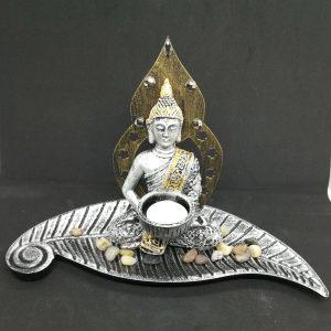 Meditating Buddha Candle Holder (B)