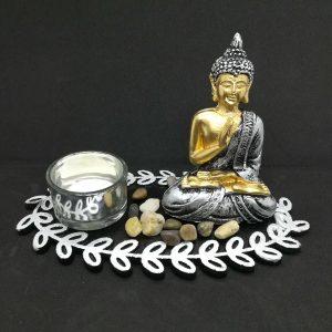 Meditating Buddha Candle Holder (D)