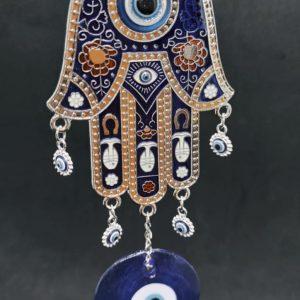 Hamza Hand Turkish Eye Hanging Ornament