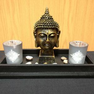 Buddha Head Candle Holder (A)