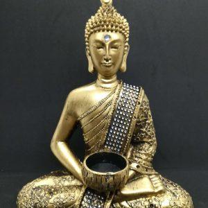 Meditating Buddha with Candle Holder
