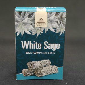 Wellness Mantra White Sage Back flow Incense cones