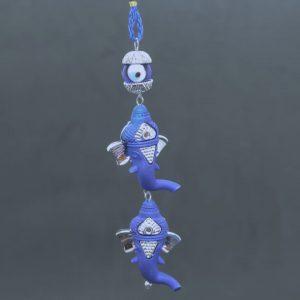 Twin Ganesh Turkish Eye Hanging Ornament