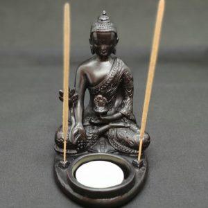 Hindu Buddha Incense & Tealight Candle Holder