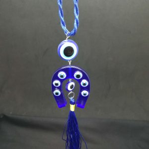 Turkish Eye Horse Shoe Hanging Ornament