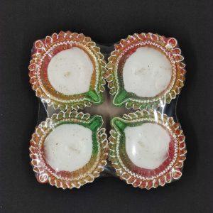 Fancy Clay Lamps 4 Pack (D)