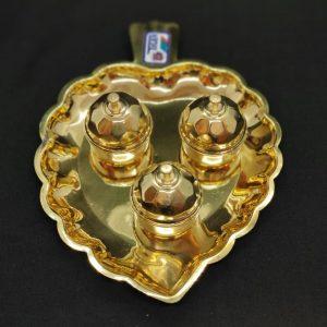 3 in 1 Brass Leaf Dabba Set