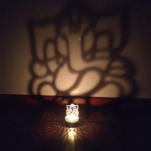Shadow Ganesh Tea Light Holder