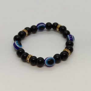 Black Gold Turkish Eye Bracelet