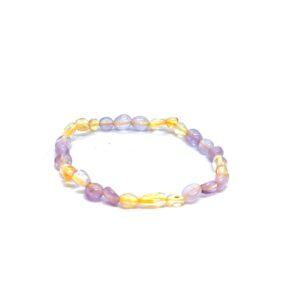 Amethyst & Citrine Nugget Bracelet