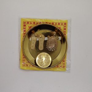 Tortoise, Coin Yantra & Laxmi Charan Set