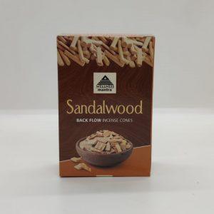 Wellness Mantra Sandalwood Back Flow Incense Cones