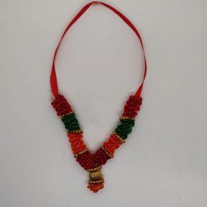 Satin Garland A (Red Green Orange)