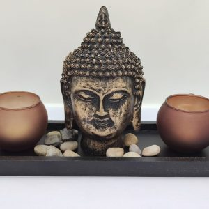 Buddha Head Candle Holder (B)