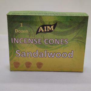AIM Incense Cones (Sandalwood)