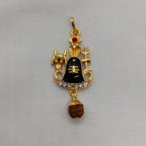 Nandi Shivling Pendant with Rudraksh