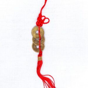 Chinese Lucky Coins On Red String